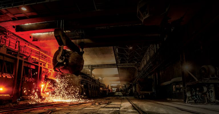 steel works foundry background